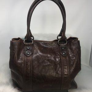Frye Melissa Antique Distressed Leather Satchel